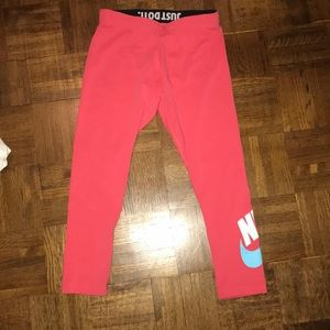 Pink nike work out pants! Never worn!